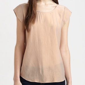 Joie Silk Rose Gold Rancher Top Blouse Shell